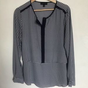 Lord & Taylor Houndstooth Blouse
